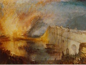 Burning of the Houses of Parliament by J. M. W. Turner