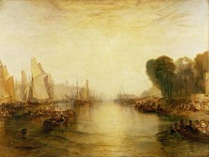 East Cowes Castle, Isle of Wight: The Regatta with the Royal Yacht Squadron by J. M. W. Turner