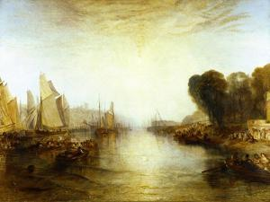 East Cowes Castle, Isle of Wight: The Regatta with the Royal Yacht Squadron by J^ M^ W^ Turner