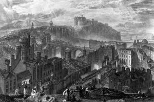 Edinburgh from the Calton Hill, Engraved by George Cooke, 1820 by J^ M^ W^ Turner