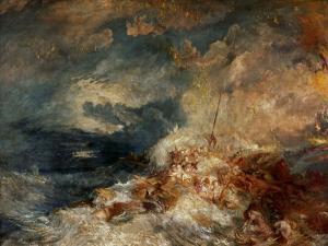 Fire At Sea, Ca. 1835 by J. M. W. Turner