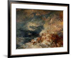 Fire At Sea, Ca. 1835 by J^ M^ W^ Turner