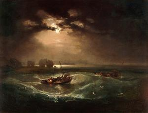 Fishermen at Sea, The Cholmeley Sea Piece, 1796 by J^ M^ W^ Turner