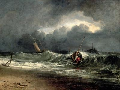 Fishermen Upon a Lee-Shore in Squally Weather by J. M. W. Turner