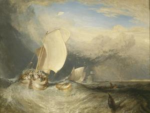 Fishing Boats with Hucksters Bargaining for Fish, 1837-38 by J. M. W. Turner