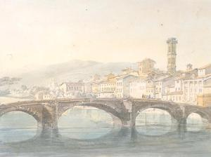 Florence from the Arno by J^ M^ W^ Turner