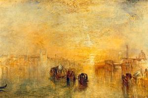 Going to the Ball, Venice, 1846 by J^ M^ W^ Turner