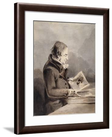 J.M.W. Turner in the British Museum-John Thomas Smith-Framed Giclee Print