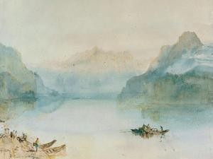 Lake Lucerne: The Bay of Uri, from Brunnen, Circa 1841-2 by J^ M^ W^ Turner