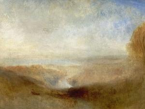 Landscape With a River And a Bay In the Distance, 19th Century by J^ M^ W^ Turner