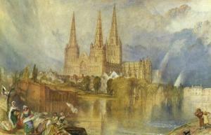 Lichfield, Staffordshire, c.1830-35 by J^ M^ W^ Turner