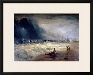 Lifeboat and Manby Apparatus Going off to a Stranded Vessel Making Signal of Distress, circa 1831 by J. M. W. Turner