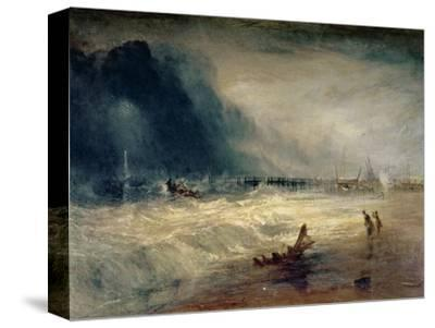 Lifeboat and Manby Apparatus Going off to a Stranded Vessel Making Signal of Distress, circa 1831
