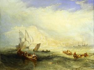 Line Fishing Off Hastings, c.1835 by J^ M^ W^ Turner