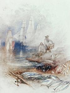 Mackerel on the Beach, circa 1830-35 by J. M. W. Turner