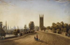 Magdalen Bridge, Oxford, 1859 by J. M. W. Turner