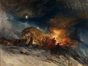 Messieurs Les Voyageurs on Their Return from Italy (Par La Diligence) in a Snow Drift by J. M. W. Turner