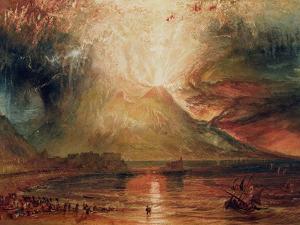 Mount Vesuvius in Eruption, 1817 (W/C on Paper) by J. M. W. Turner