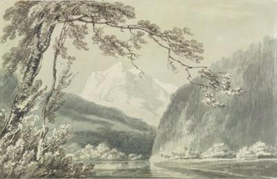 Near Grindelwald, C.1796 (Blue and Grey Wash over Graphite on Paper) by J. M. W. Turner