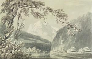 Near Grindelwald, C.1796 (Blue and Grey Wash over Graphite on Paper) by J^ M^ W^ Turner