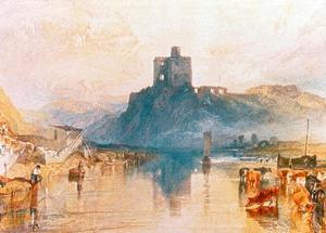 Norham Castle on the River Tweed, 1822 by J^ M^ W^ Turner