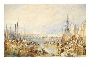Old London Bridge by J. M. W. Turner