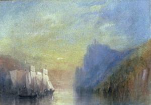 On the Rhine, c.1830 by J. M. W. Turner
