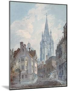 Oxford: St Mary's from Oriel Lane, 1792-1793 by J. M. W. Turner