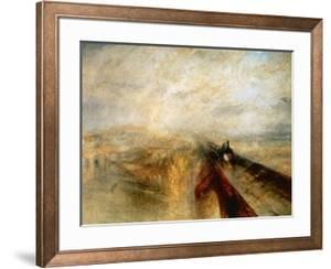 """Rain, Steam And Speed """"The Great Western Railway"""" 1844 by J^ M^ W^ Turner"""