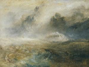 Rough Sea with Wreckage by J^ M^ W^ Turner