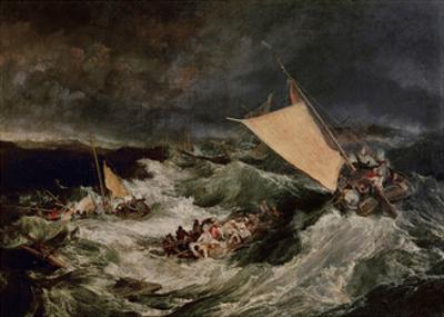 Shipwreck, 1800 by J^ M^ W^ Turner