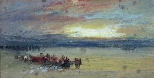 Shore Scene, Sunset by J. M. W. Turner