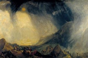 Snow Storm: Hannibal and His Army Crossing the Alps by J^ M^ W^ Turner