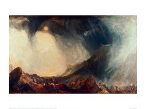 Snowstorm, Hannibal and his Army Crossing the Alps by J^ M^ W^ Turner