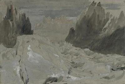 St Gothard and Mont Blanc Sketchbook [Finberg LXXV], the Mer De Glace by J^ M^ W^ Turner