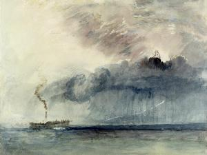 Steamboat in a Storm, C.1841 (W/C and Pencil on Paper) by J. M. W. Turner