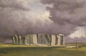 Stonehenge: Stormy Day, 1846 by J. M. W. Turner