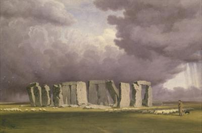 Stonehenge: Stormy Day, 1846 by J^ M^ W^ Turner