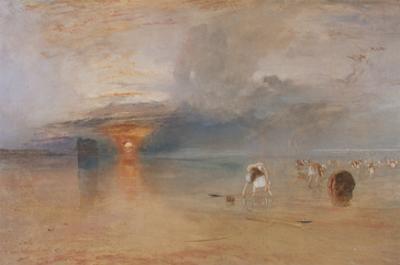 Strand Bei Calais, Fischerfrauen Sammeln Koeder Ein, 1830 by J^ M^ W^ Turner