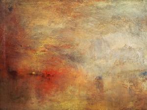 Sundown over a Lake, 1840 by J^ M^ W^ Turner