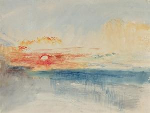 Sunset, C.1845 by J^ M^ W^ Turner