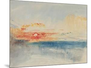 Sunset, C.1845 by J^ M^ W^ Turner