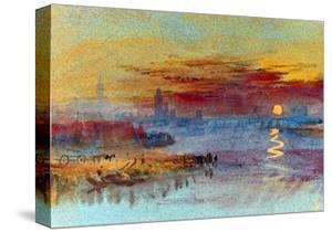 Sunset on Rouen by J^ M^ W^ Turner