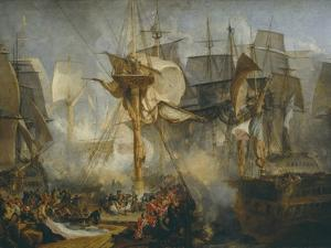 The Battle of Trafalgar, as Seen from the Mizen Starboard Shrouds of the Victory by J^ M^ W^ Turner