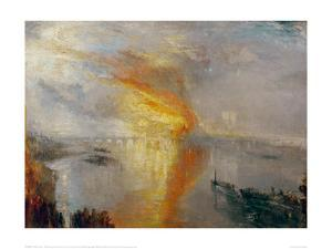 The Burning of the Houses of Lords and Commons, 1835 by J^ M^ W^ Turner