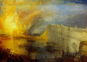 The Burning of the Houses of Parliament (2) 1835 by J^ M^ W^ Turner