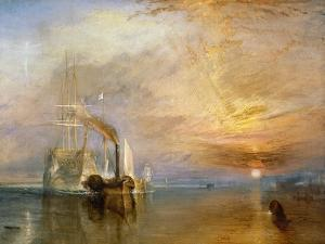 """The """"Fighting Temeraire"""" Tugged to Her Last Berth to be Broken Up, Before 1839 by J^ M^ W^ Turner"""