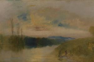 The Lake, Petworth, Sunrise by J. M. W. Turner