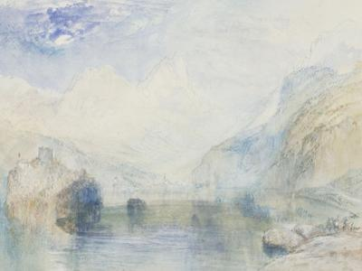 The Lauerzersee with Schwyz and the Mythen, early 1840's by J. M. W. Turner
