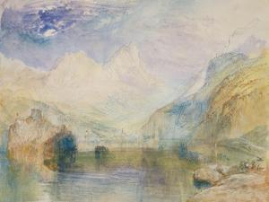 The Lauerzersee with Schwyz and the Mythen by J. M. W. Turner
